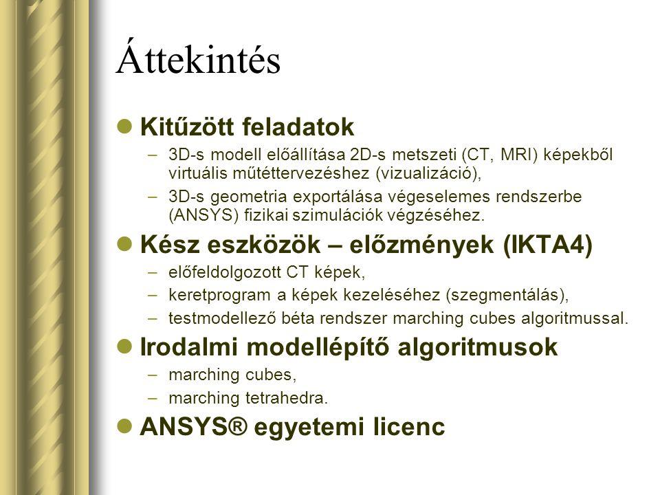 Áttekintés Kitűzött feladatok Kész eszközök – előzmények (IKTA4)