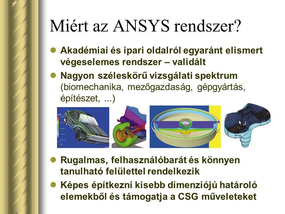 Miért az ANSYS rendszer