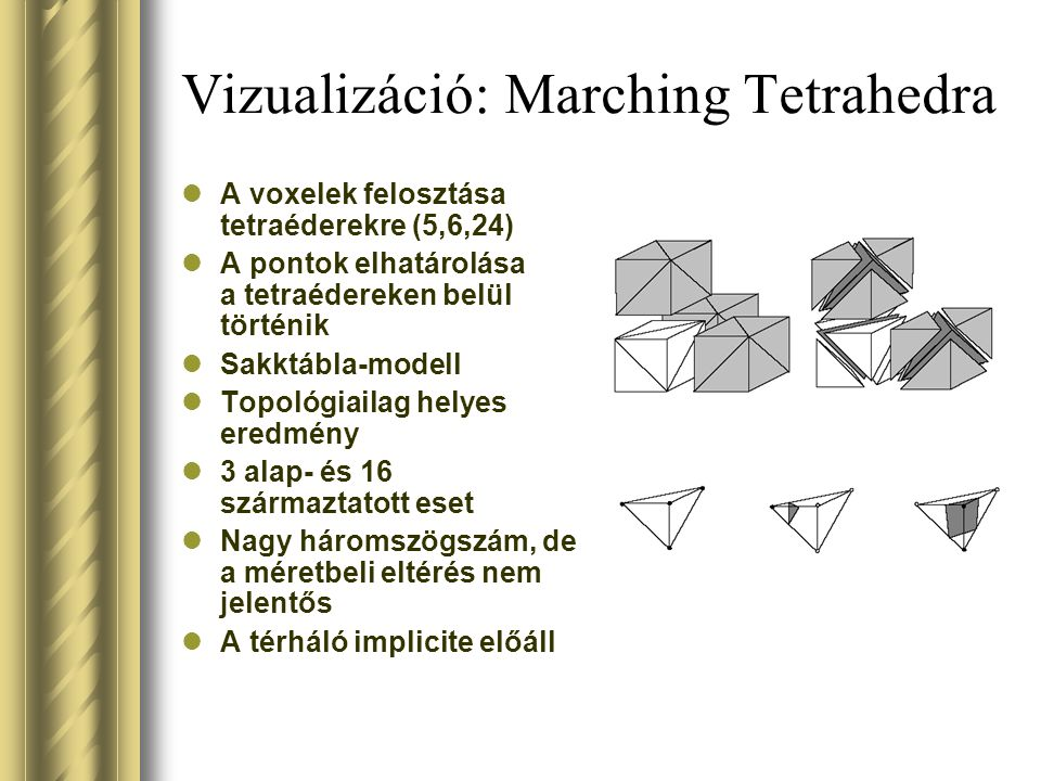 Vizualizáció: Marching Tetrahedra