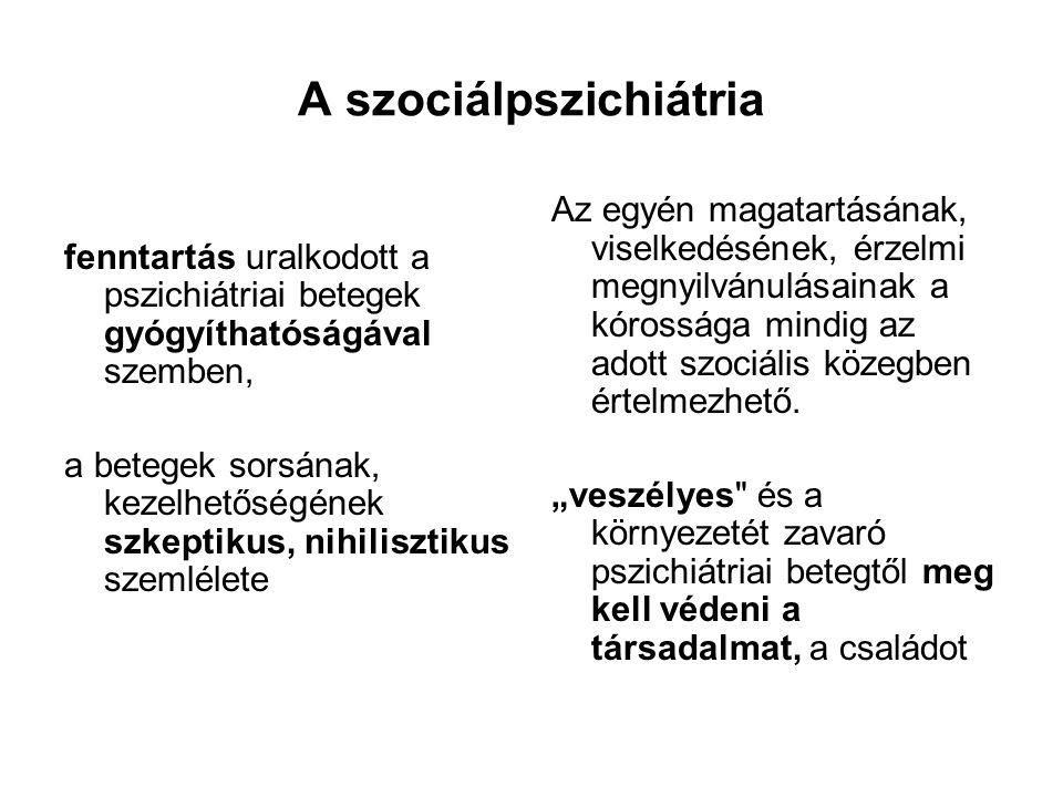 A szociálpszichiátria