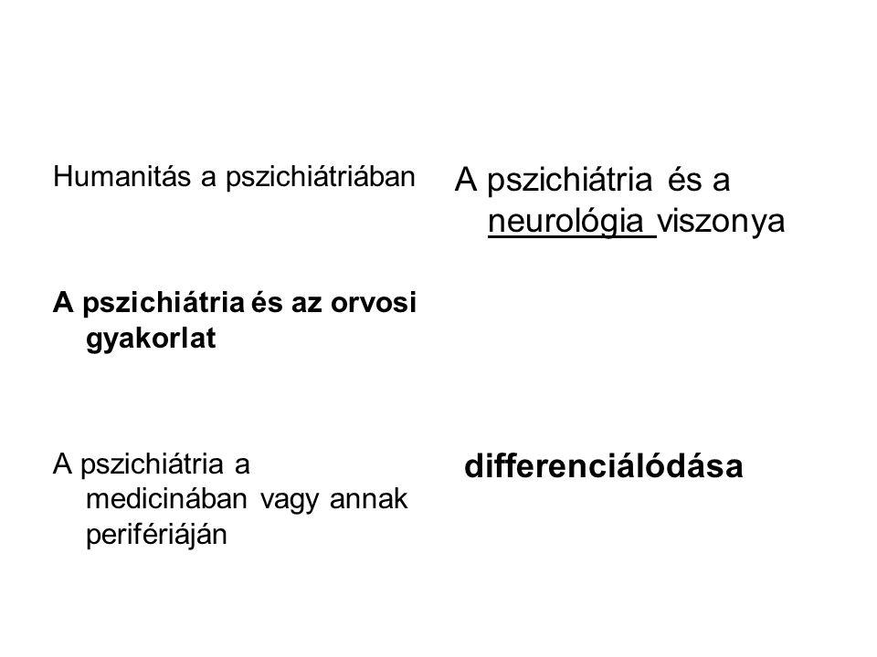 A pszichiátria és a neurológia viszonya