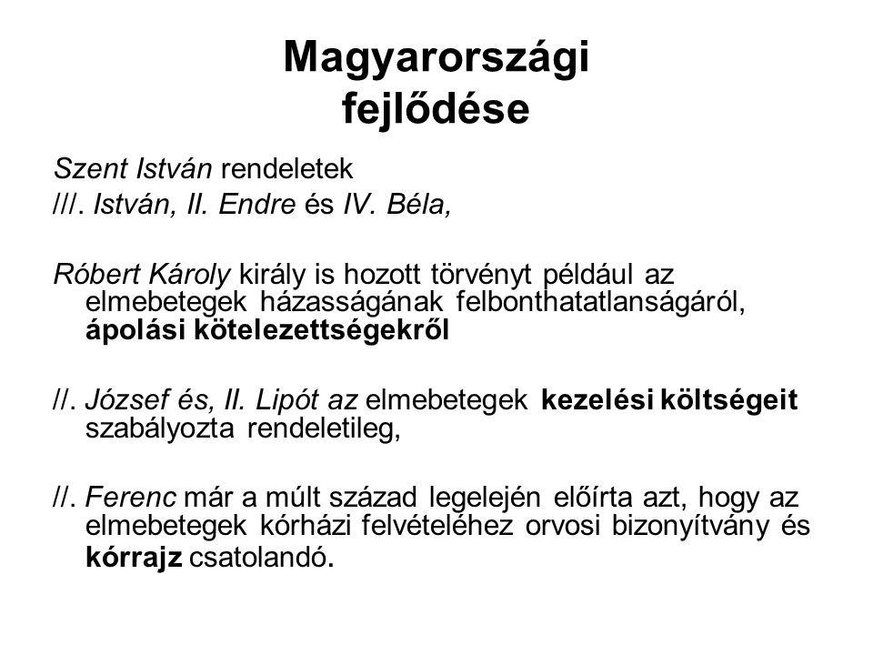 Magyarországi fejlődése