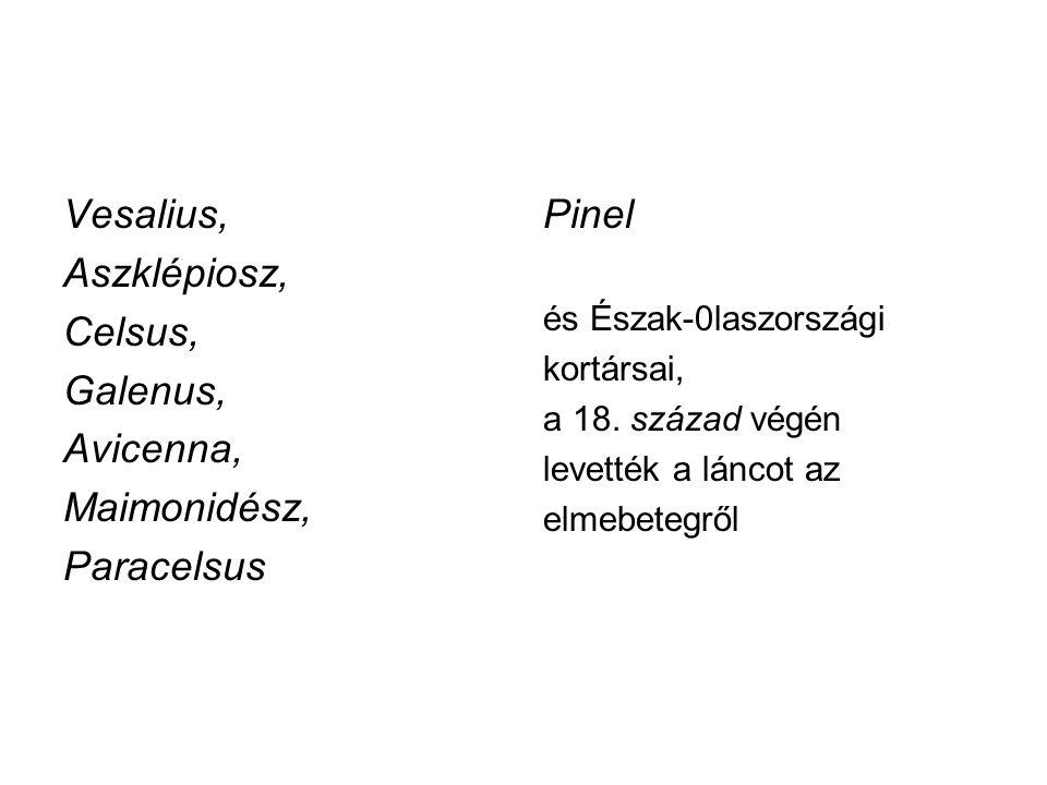 Vesalius, Aszklépiosz, Celsus, Galenus, Avicenna, Maimonidész,