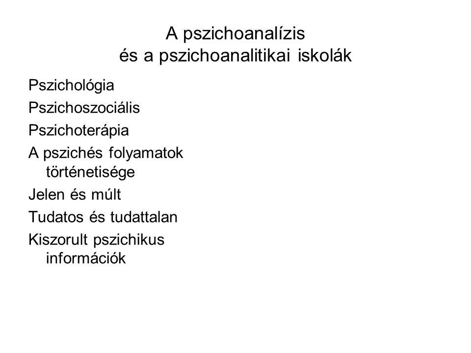 A pszichoanalízis és a pszichoanalitikai iskolák