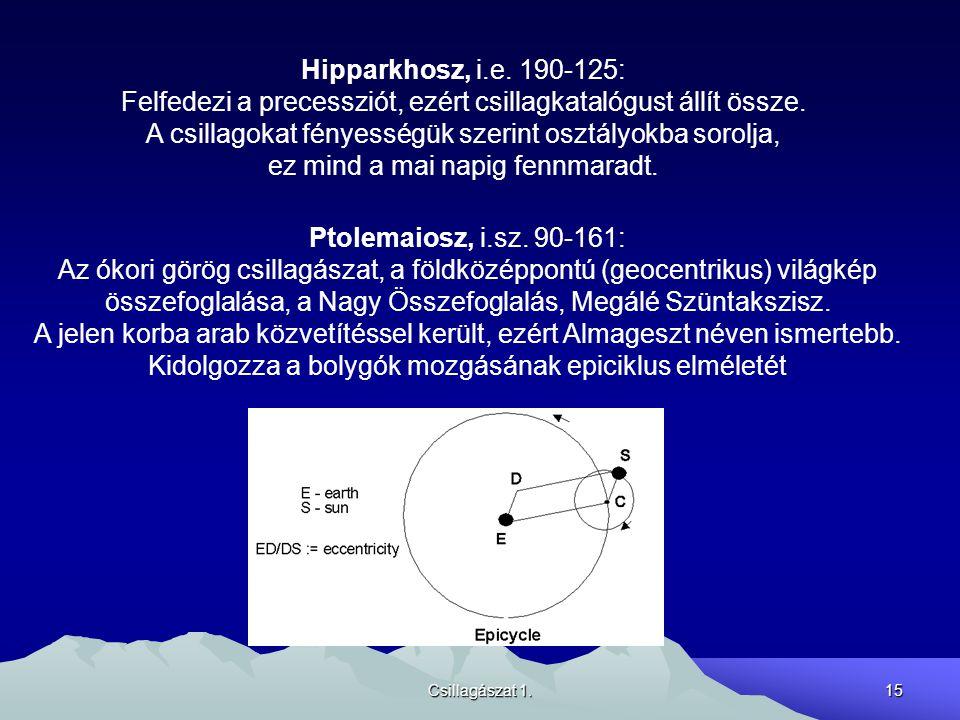 Felfedezi a precessziót, ezért csillagkatalógust állít össze.