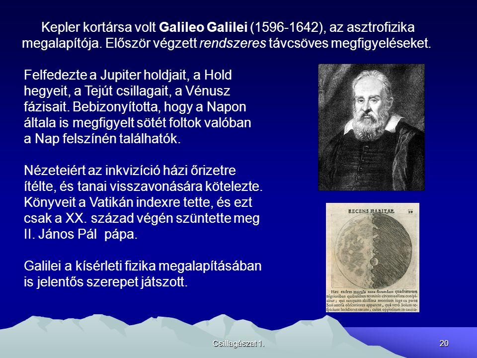 Kepler kortársa volt Galileo Galilei (1596-1642), az asztrofizika