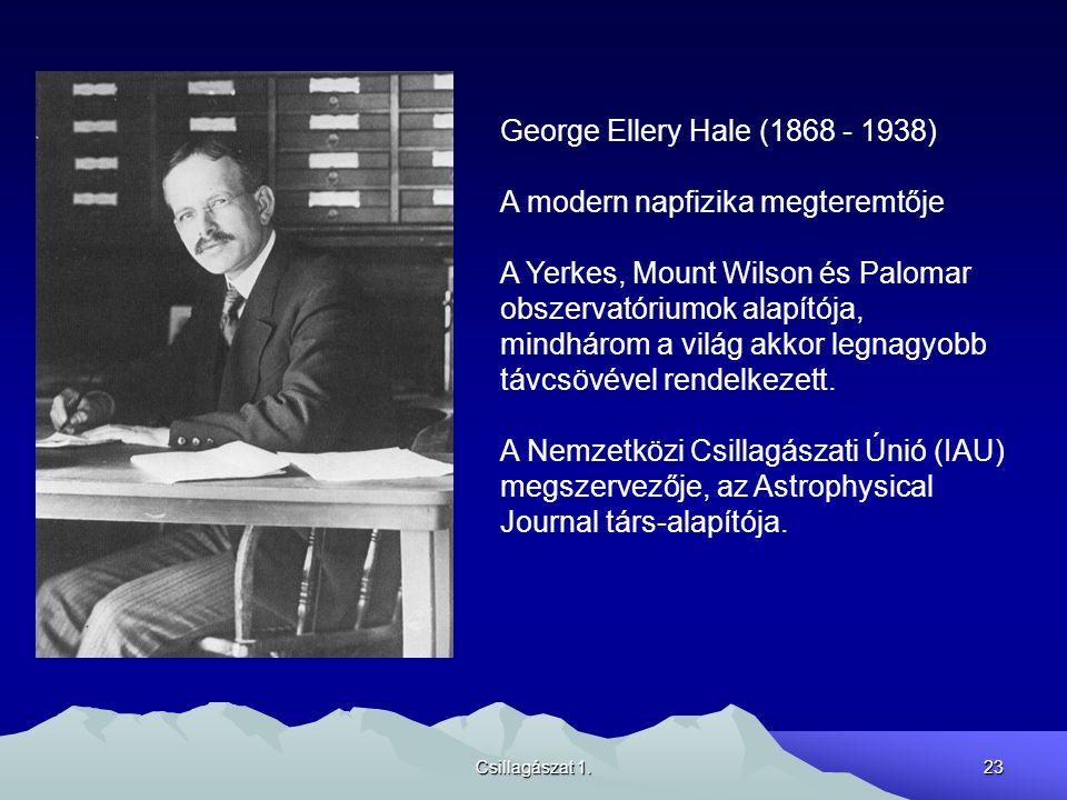 A modern napfizika megteremtője A Yerkes, Mount Wilson és Palomar