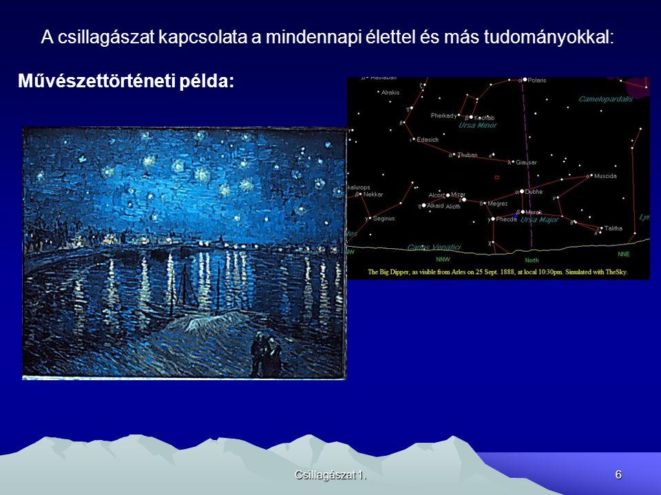 A csillagászat kapcsolata a mindennapi élettel és más tudományokkal: