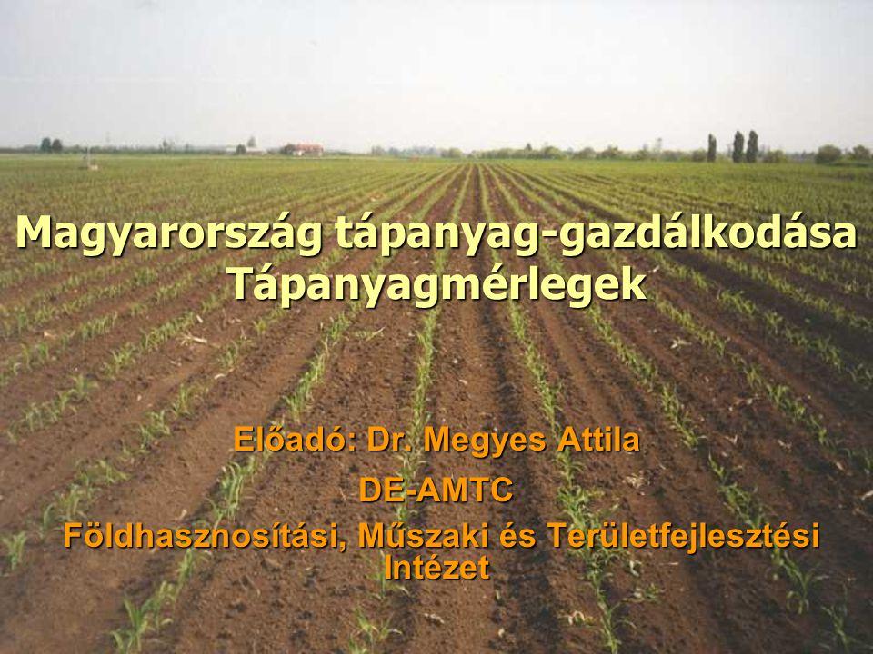 Magyarország tápanyag-gazdálkodása Tápanyagmérlegek