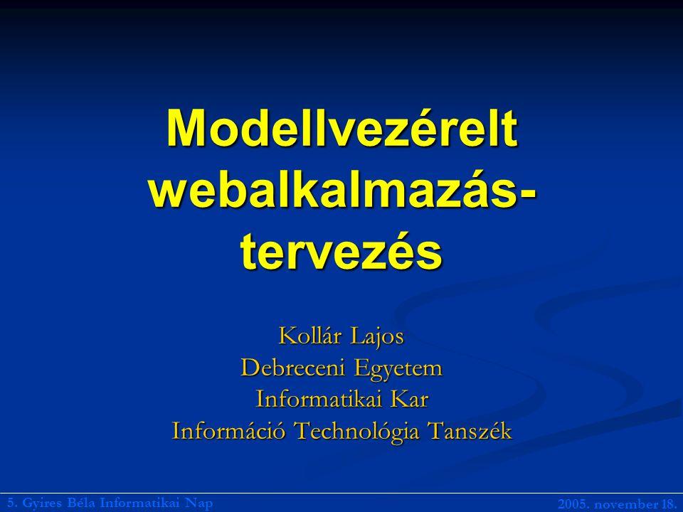 Modellvezérelt webalkalmazás-tervezés