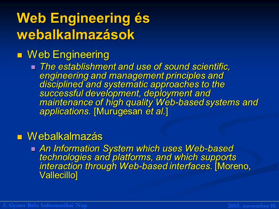 Web Engineering és webalkalmazások