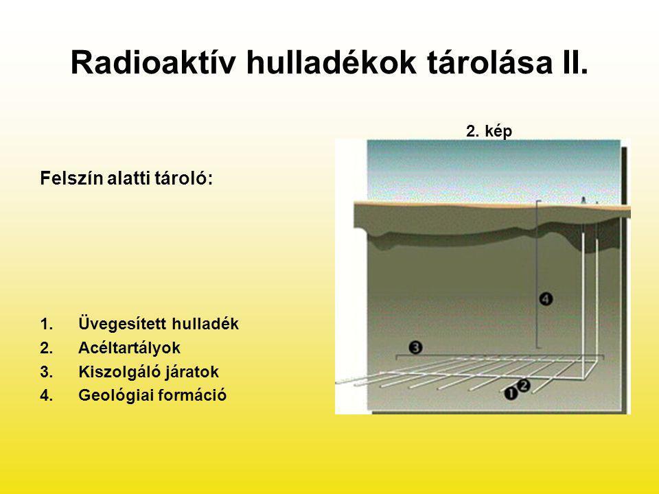 Radioaktív hulladékok tárolása II.