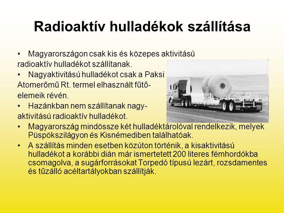 Radioaktív hulladékok szállítása