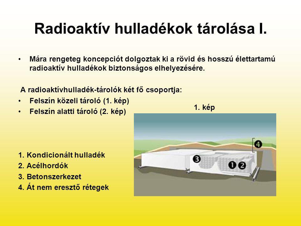 Radioaktív hulladékok tárolása I.