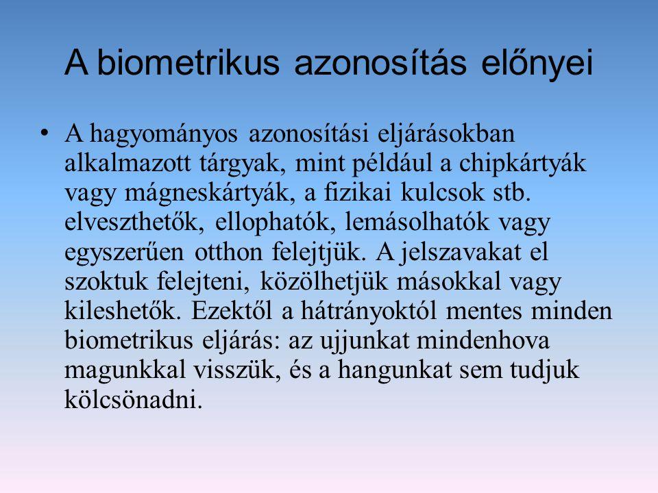 A biometrikus azonosítás előnyei