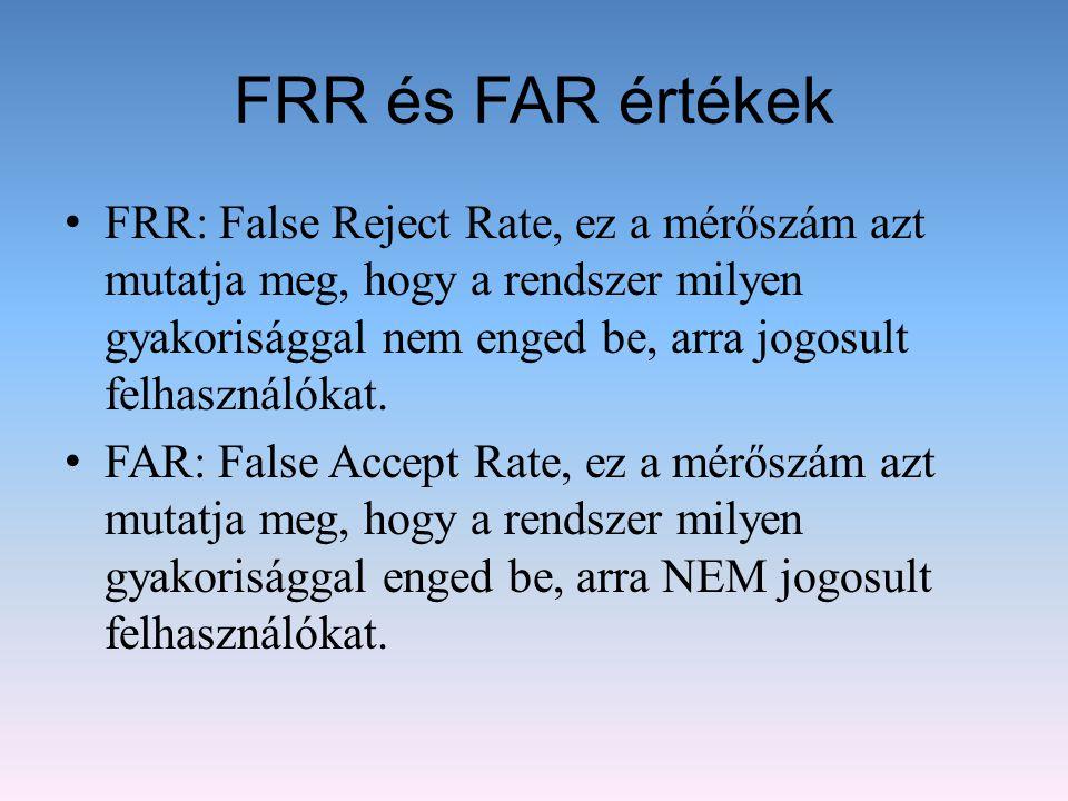 FRR és FAR értékek