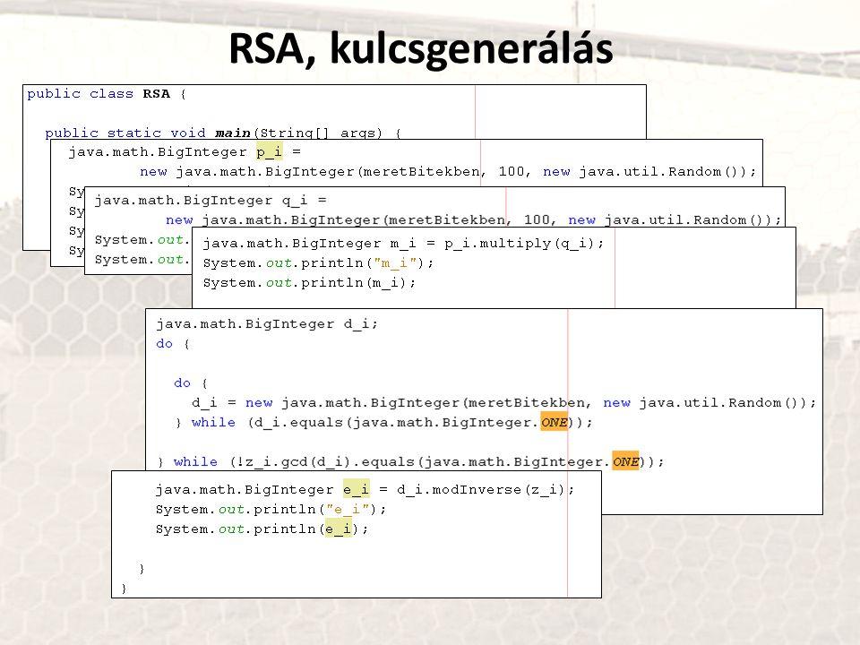 RSA, kulcsgenerálás