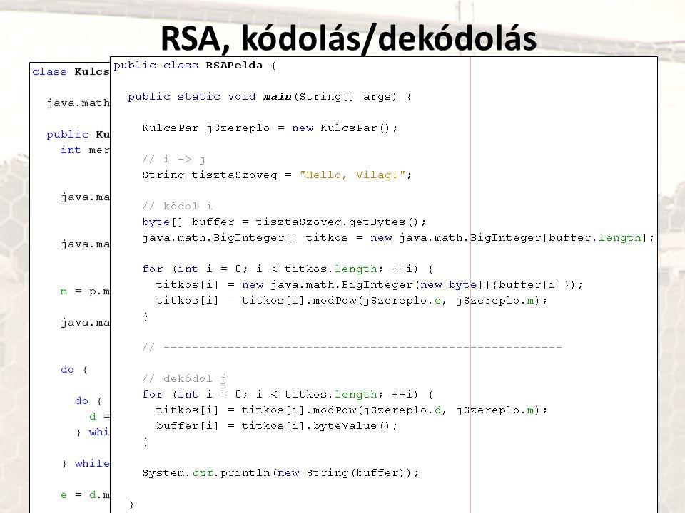 RSA, kódolás/dekódolás
