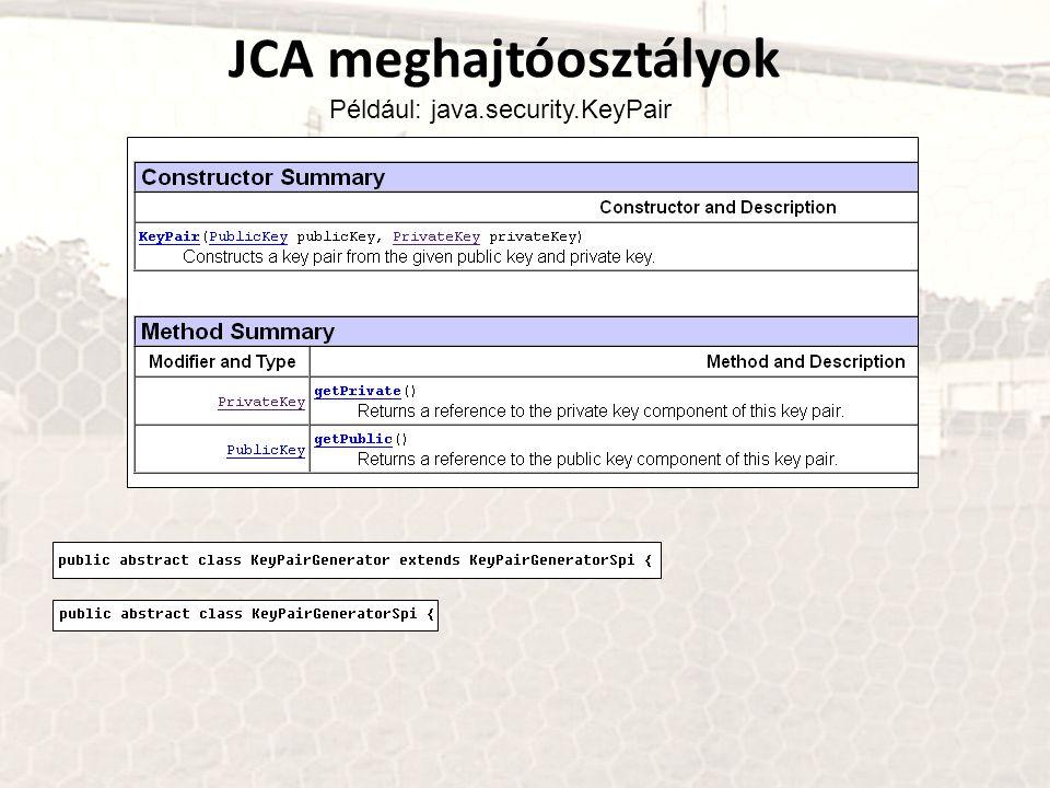 JCA meghajtóosztályok