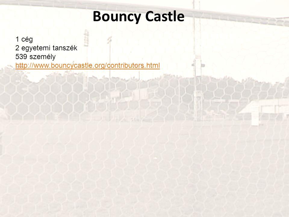 Bouncy Castle 1 cég 2 egyetemi tanszék 539 személy