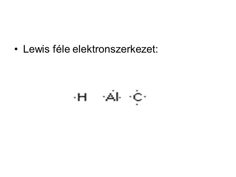 Lewis féle elektronszerkezet: