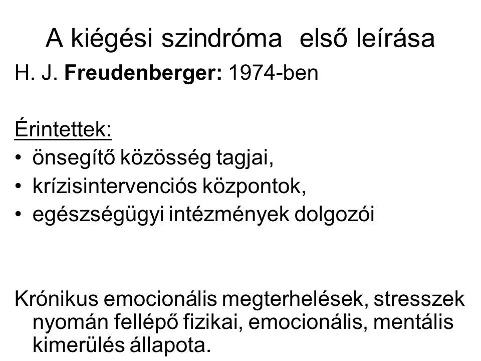 A kiégési szindróma első leírása
