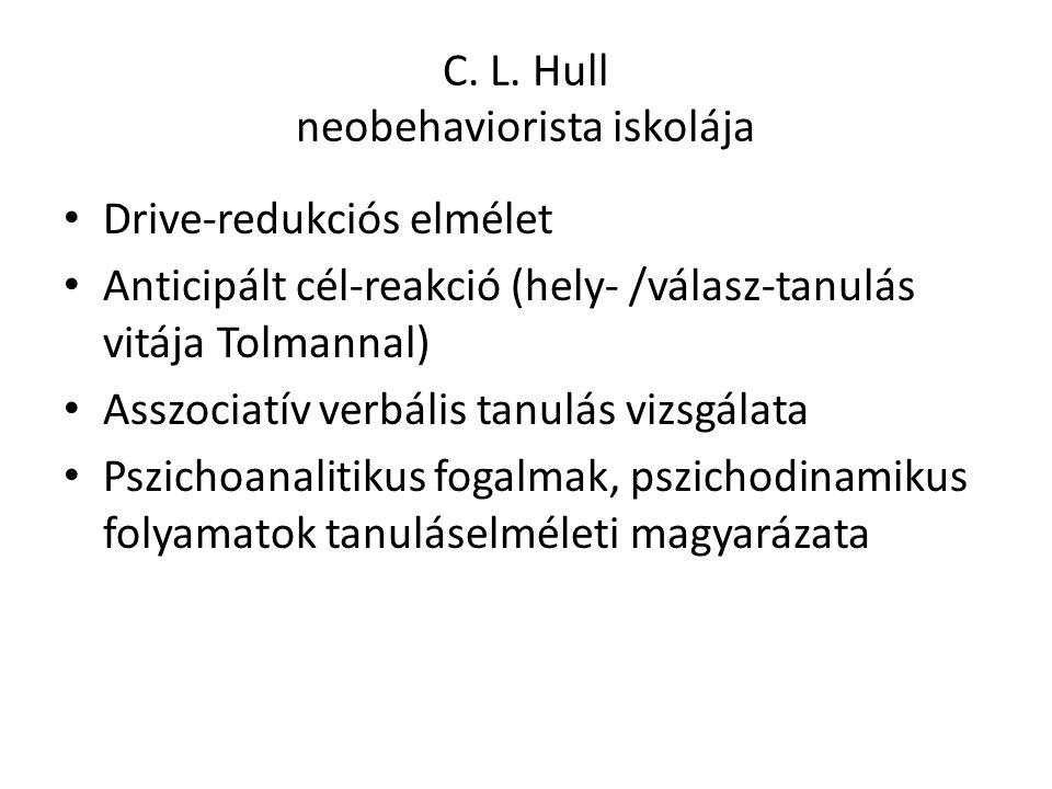 C. L. Hull neobehaviorista iskolája