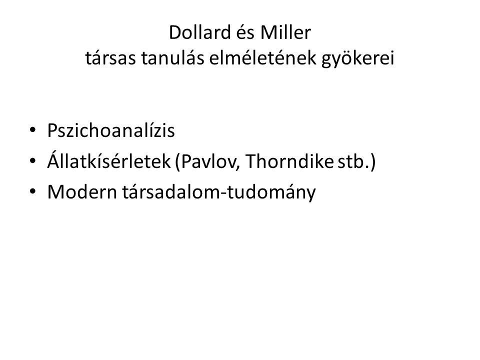 Dollard és Miller társas tanulás elméletének gyökerei