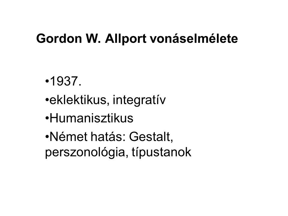 Gordon W. Allport vonáselmélete