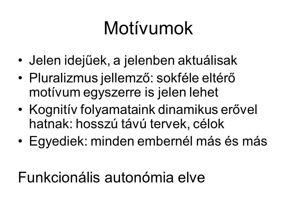 Motívumok Funkcionális autonómia elve
