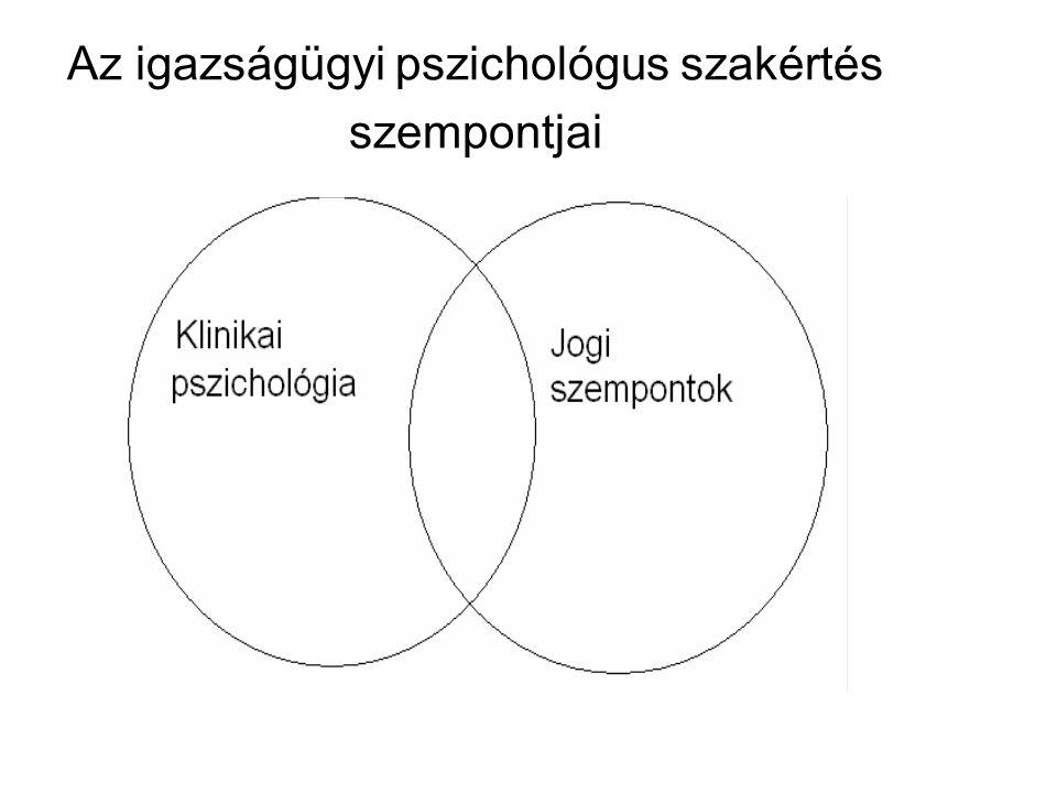 Az igazságügyi pszichológus szakértés szempontjai