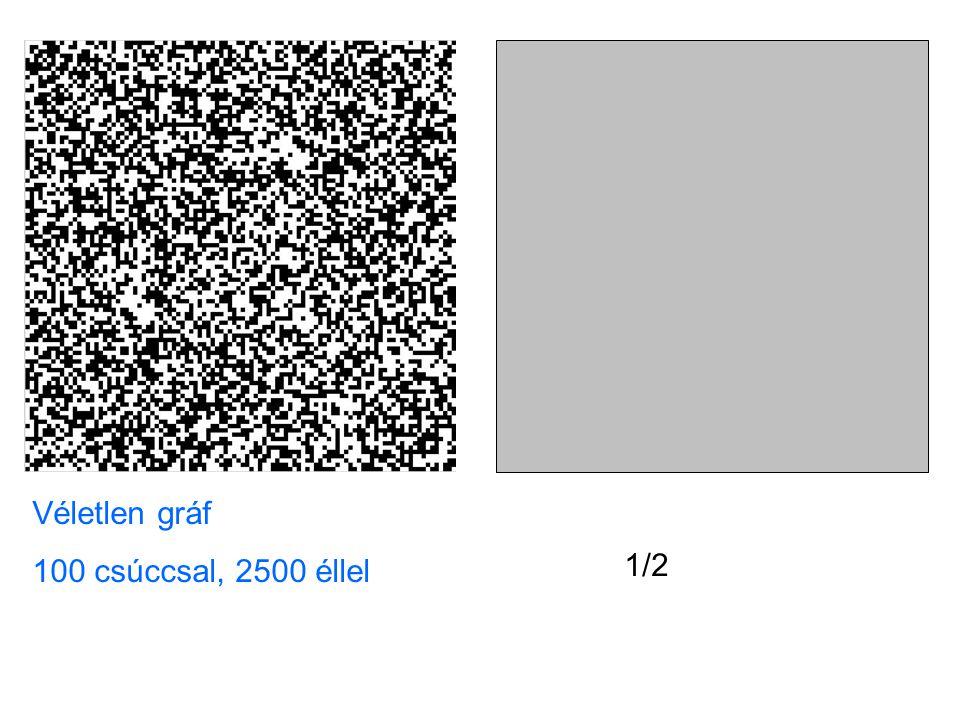 1/2 Véletlen gráf 100 csúccsal, 2500 éllel