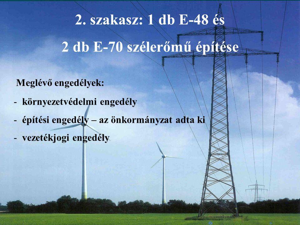2 db E-70 szélerőmű építése