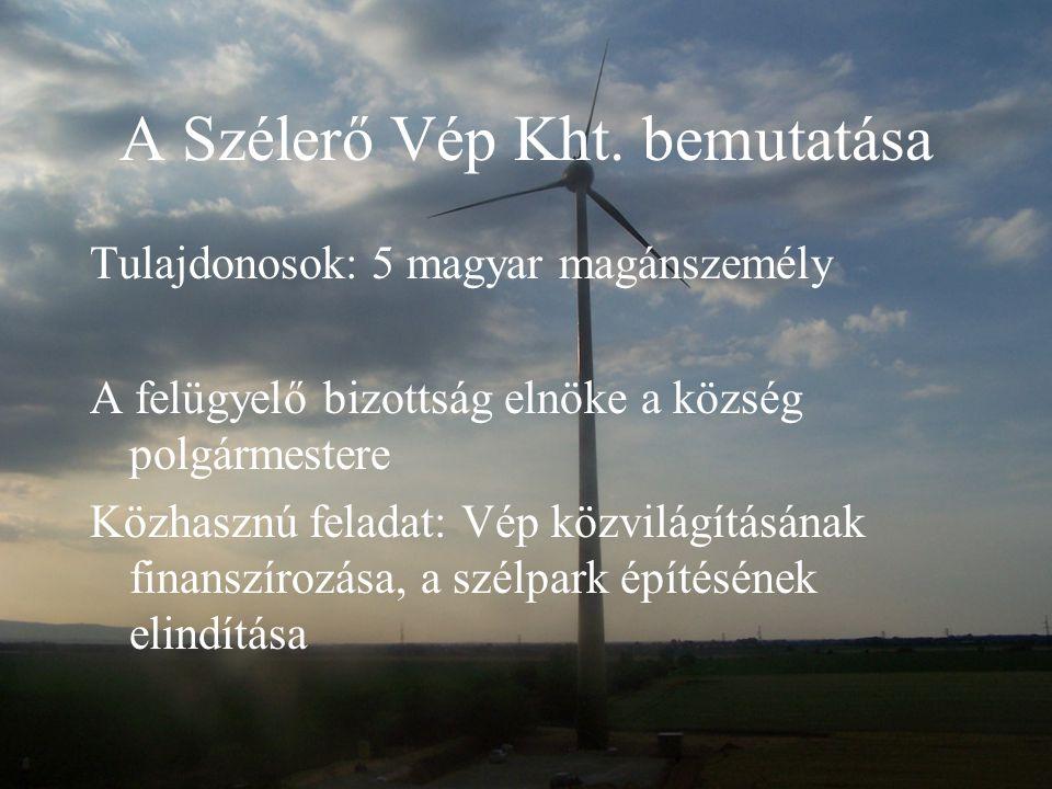 A Szélerő Vép Kht. bemutatása
