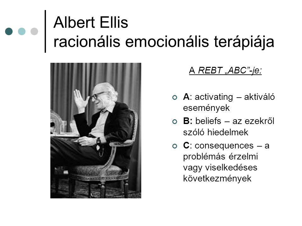 Albert Ellis racionális emocionális terápiája