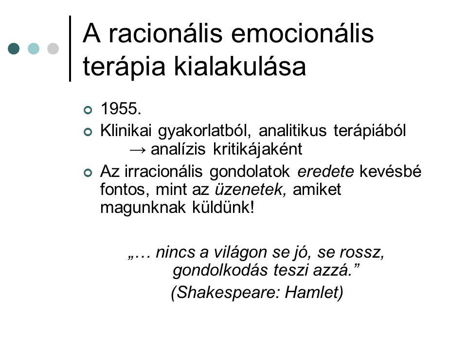 A racionális emocionális terápia kialakulása