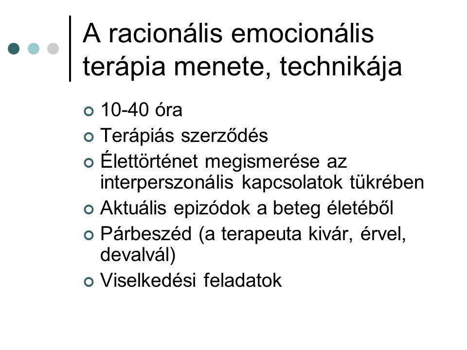 A racionális emocionális terápia menete, technikája