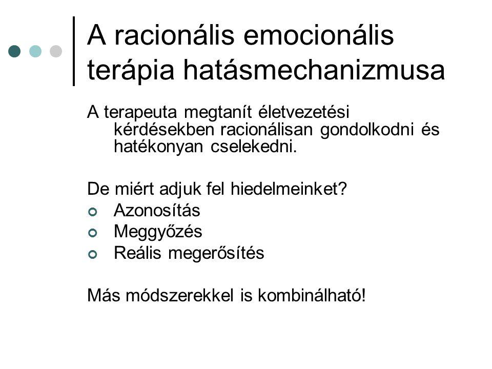 A racionális emocionális terápia hatásmechanizmusa