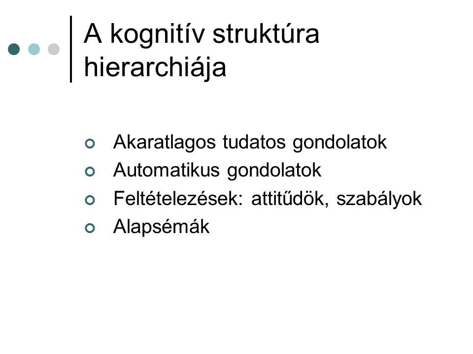 A kognitív struktúra hierarchiája