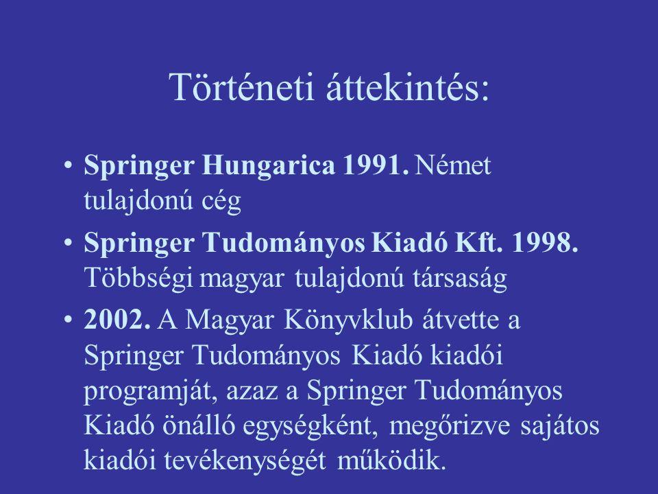Történeti áttekintés: