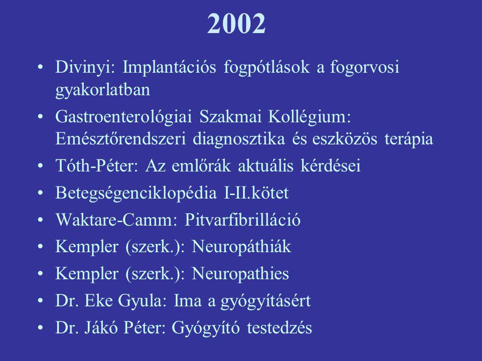 2002 Divinyi: Implantációs fogpótlások a fogorvosi gyakorlatban