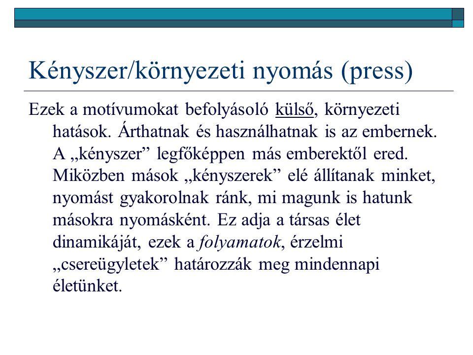 Kényszer/környezeti nyomás (press)