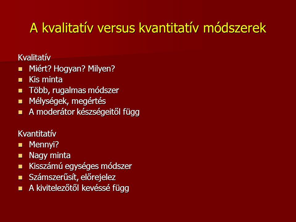 A kvalitatív versus kvantitatív módszerek