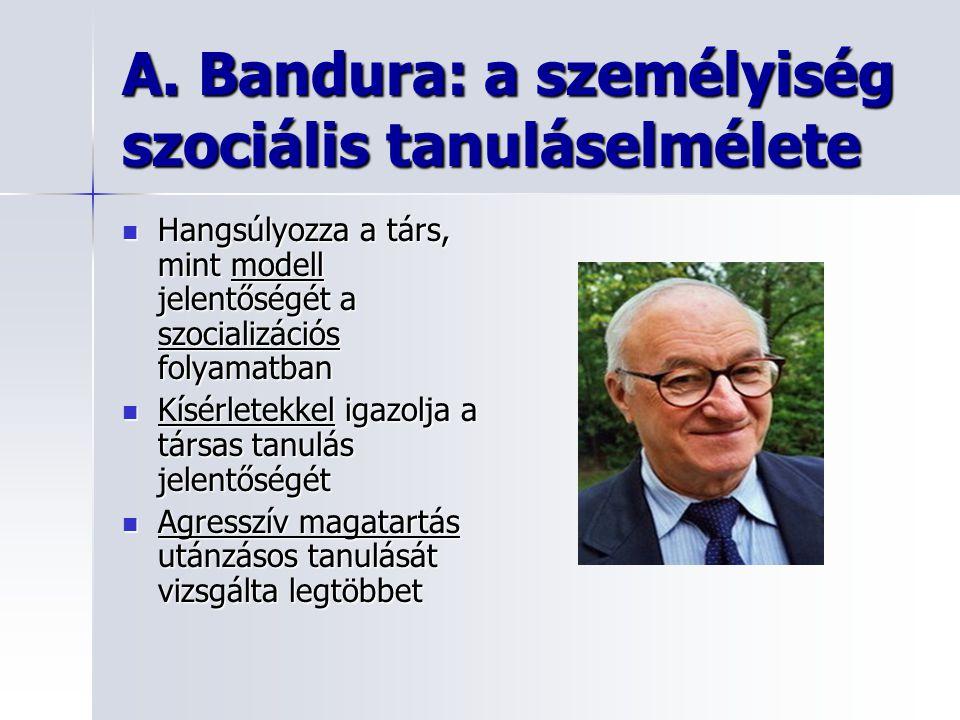 A. Bandura: a személyiség szociális tanuláselmélete