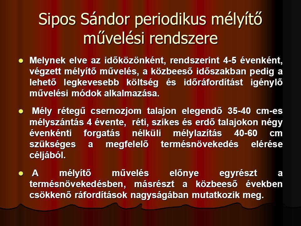 Sipos Sándor periodikus mélyítő művelési rendszere