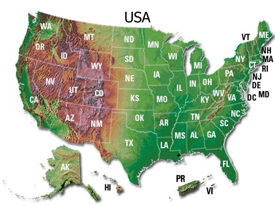 USA Észak Amerika szárazságra hajló vidékén az évi csapadék 250-300mm.