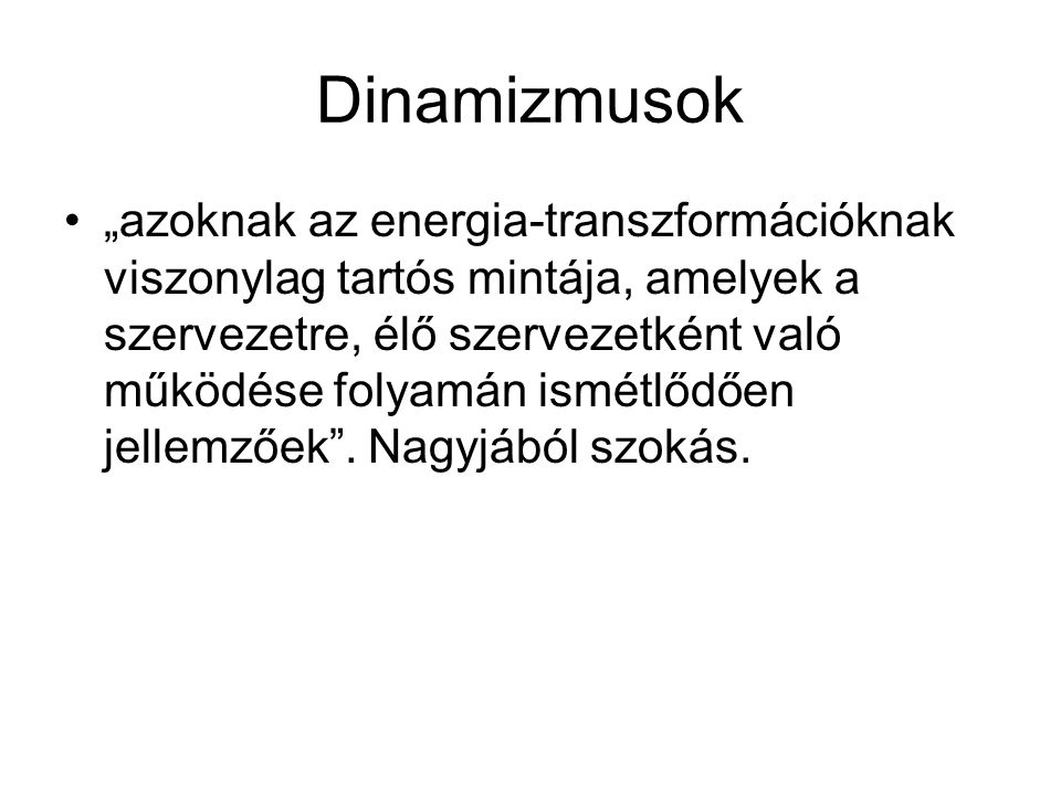 Dinamizmusok