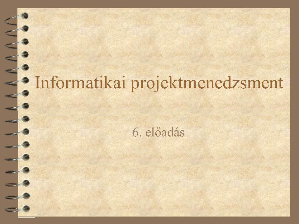 Informatikai projektmenedzsment