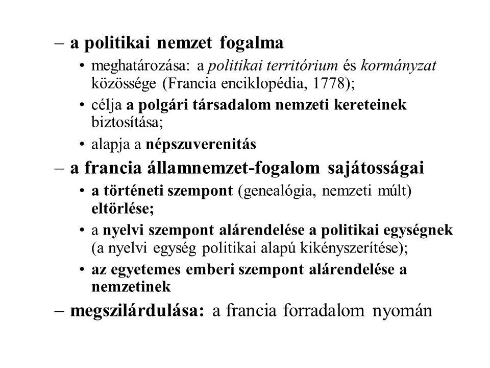 a politikai nemzet fogalma