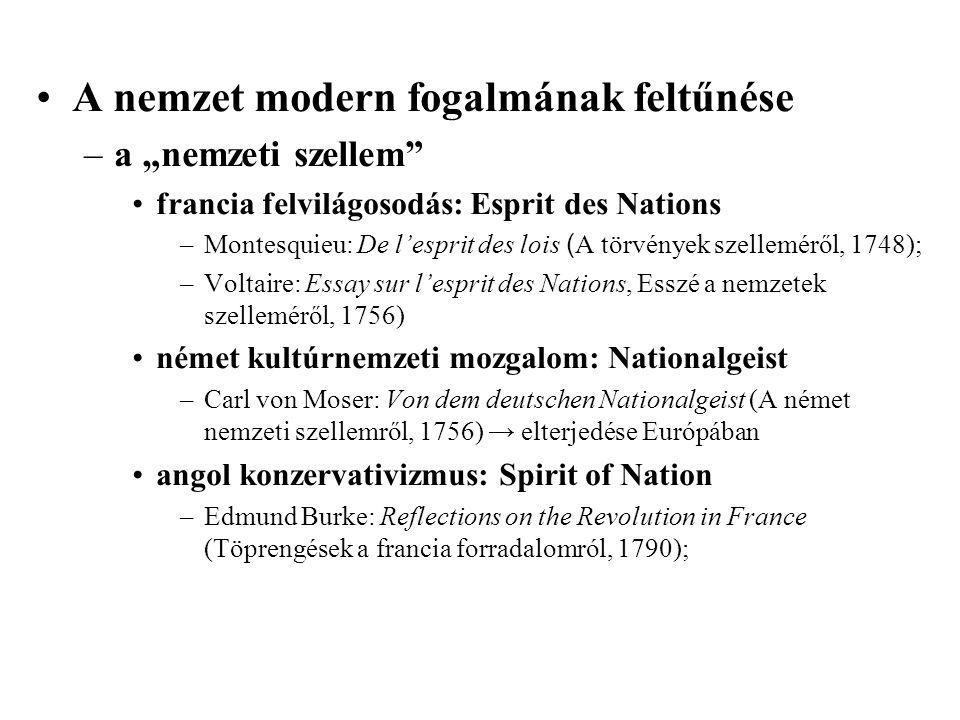 A nemzet modern fogalmának feltűnése